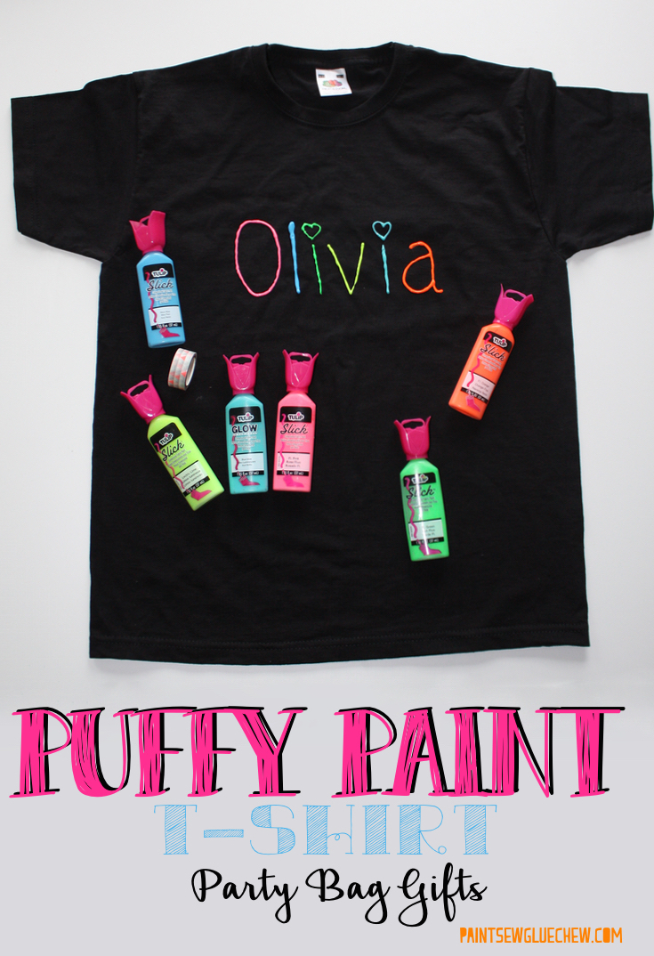 T shirts decorated with puffy paint paintsewgluechew for How to decorate t shirts
