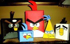Angry Birds DIY Gift Wrap