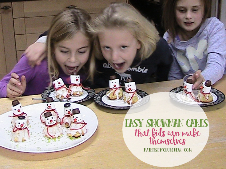 Homemade Snowman Cakes