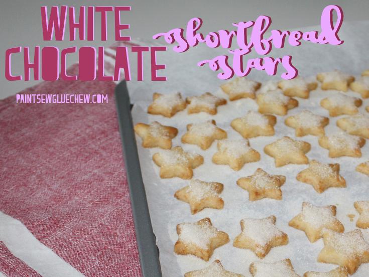 White Chocolate Shortbread Stars