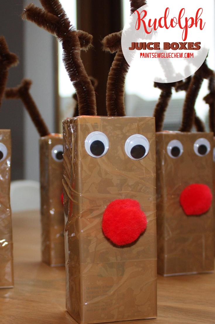 Rudolph Juice Box