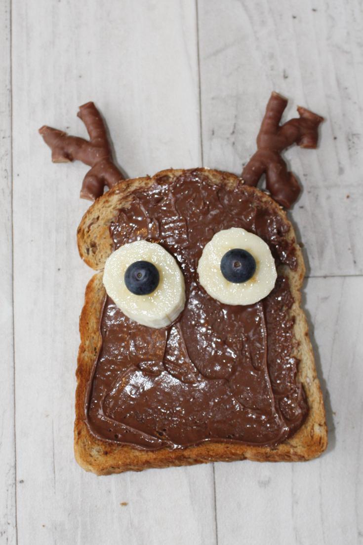 Rudolph Nutella Toast