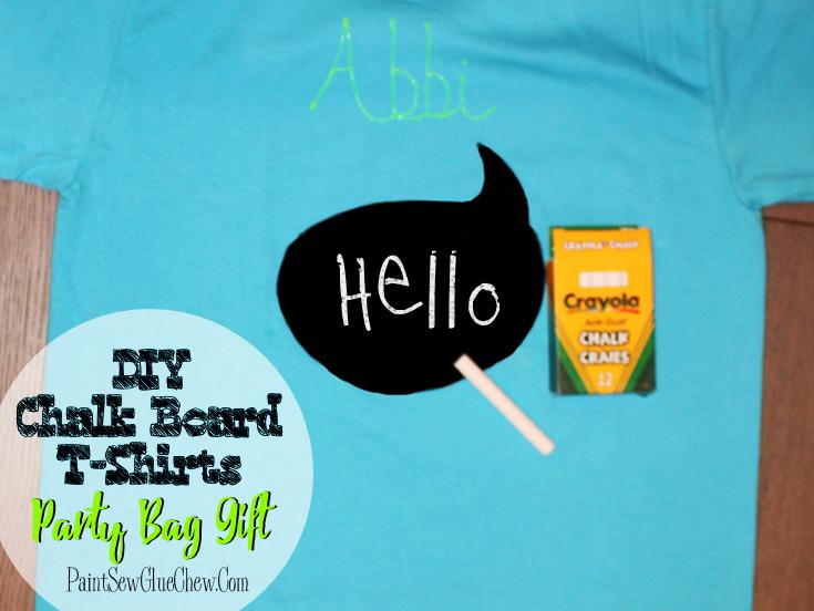 Chalkboard Message T-shirts DIY
