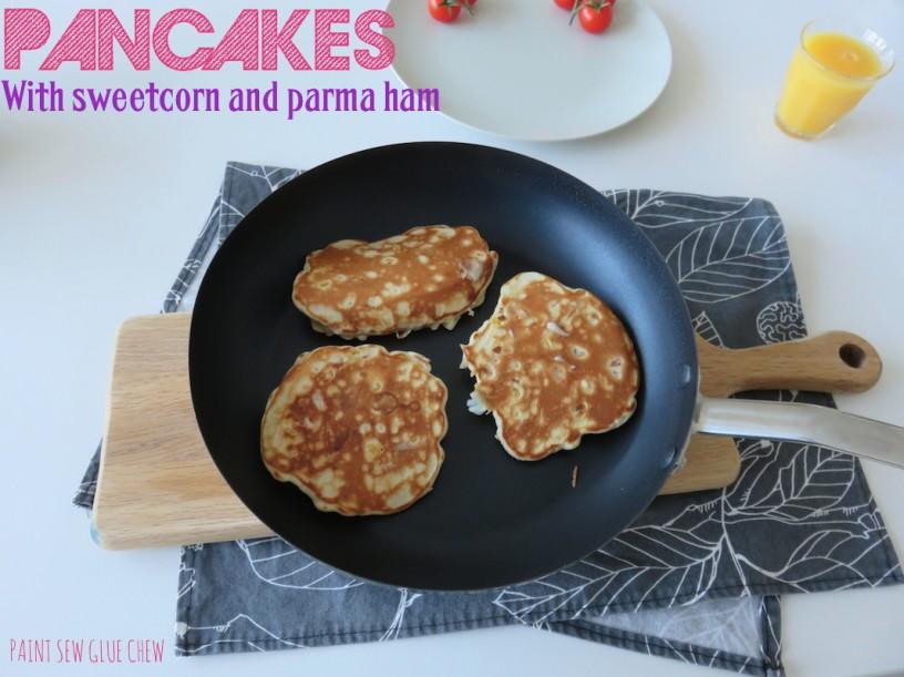 savoury pancakes with sweetcorn