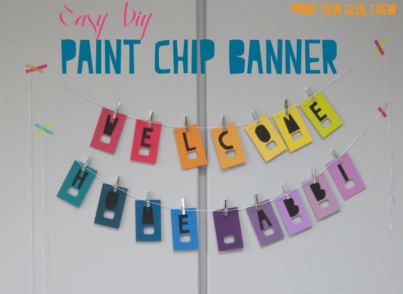Paint Chip Banner Diy Paintsewgluechew