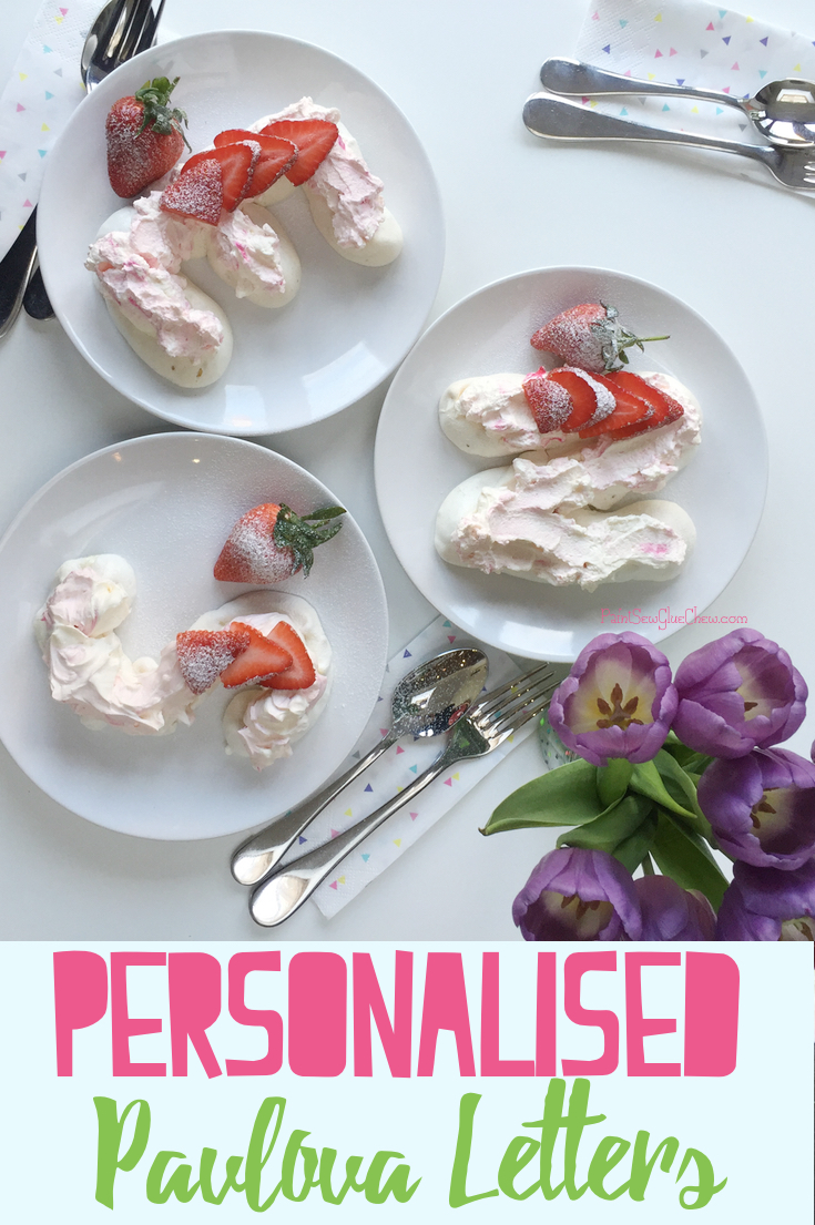 Pavlova Monogram Dessert