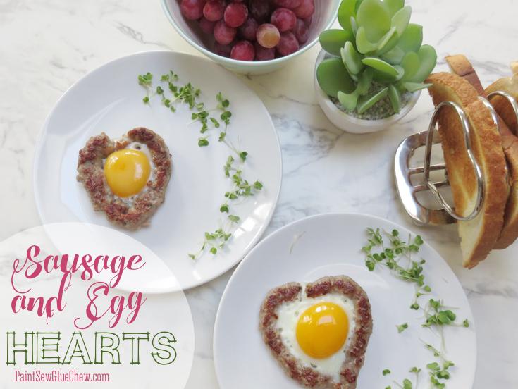 Sausage and Egg Hearts Valentine Food Idea