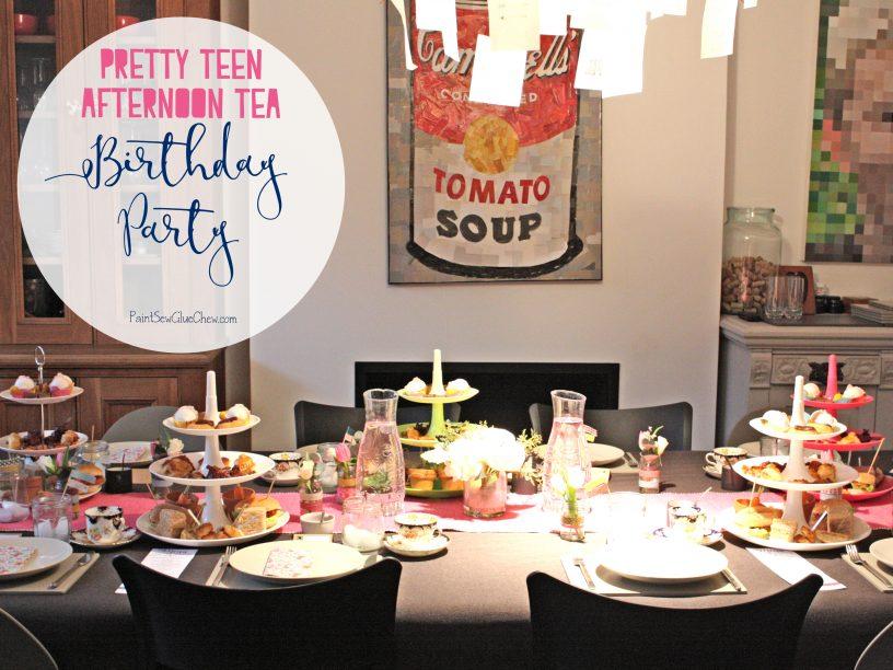 Teen afternoon tea birthday party