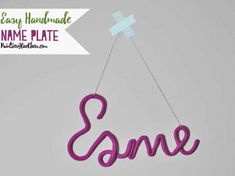 Easy Handmade name plate
