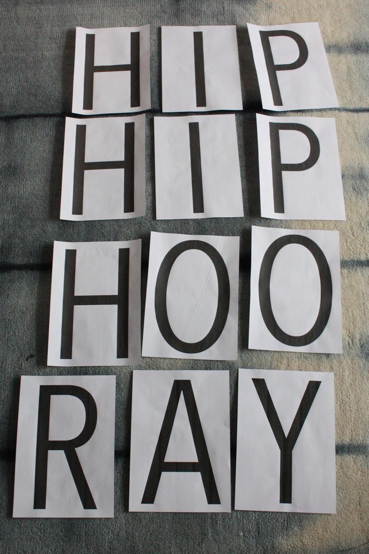 Hip Hip Hooray Printable