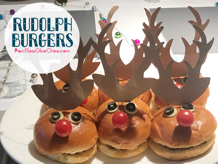 Burgers with antlers and tomato nose