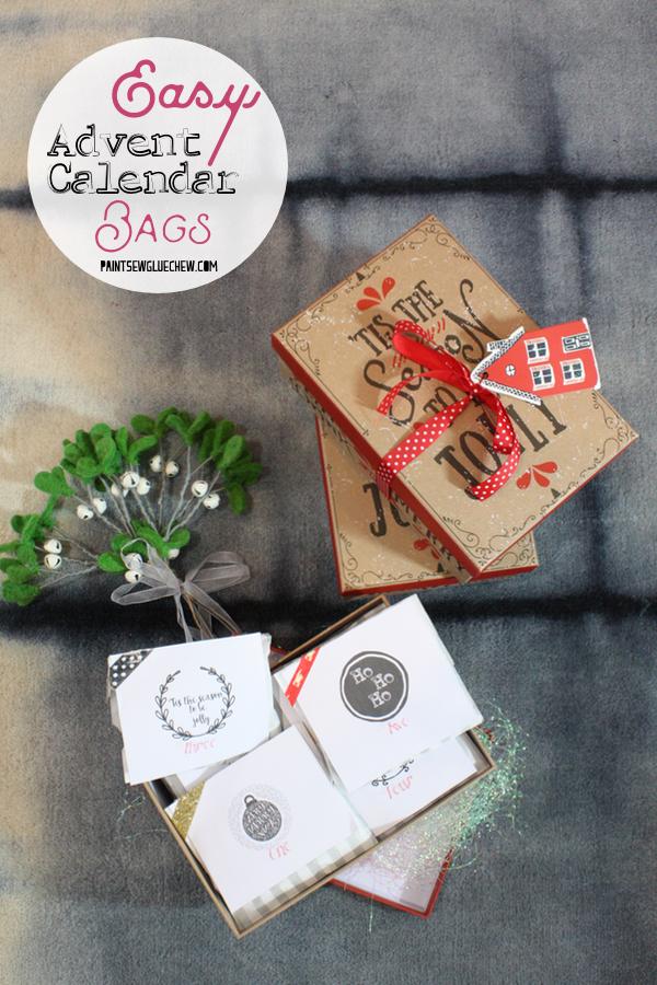 Easy advent calendar in a box